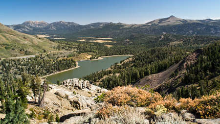 midday: Sierra Nevadas Red Lake at mid-day in the summer, from Carson Pass