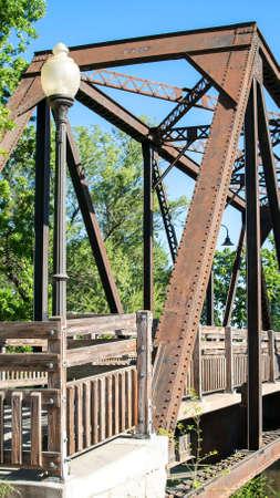 winters: Panoramic view of Winters Historic Trestle Train Bridge Stock Photo