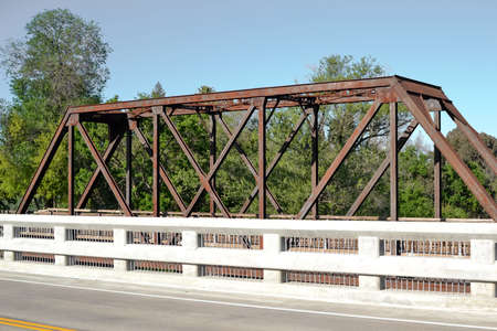 winters: Panoramic view of Winters Vaca Valley Railroad Bridge from Railroad ave