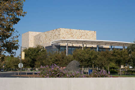 venue: Davis, California, USA. 11 September 2016. View of the  Robert and Margrit Mondavi Center for the Performing Arts. The Mondavi Center is a performing arts venue located on the UC Davis campus. Editorial