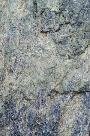 Closeup on Blueschist rock - geology texture or background Stock Photo