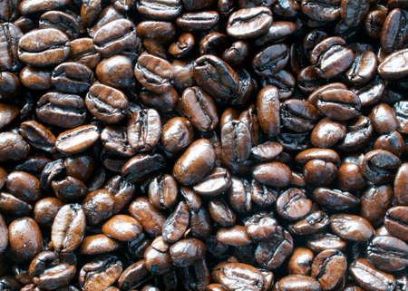Roasted Coffee, espresso roast - food texture or background Stok Fotoğraf