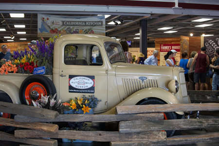 Sacramento, California, U.S.A. 23 July 2017. Antique Ford Truck displayed the California State Fair at Cal Expo. The fair is annual and features California industry and culture.