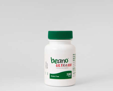 Davis, CA, Aug 16, 2020. Beano, Alpha-Galactosidase Enzyme Tablets for Gas prevention 新闻类图片