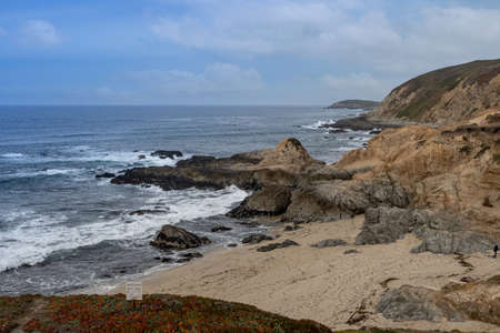 Overview of the coastline by Bodega Head, Bodega Bay, California, USA Stockfoto