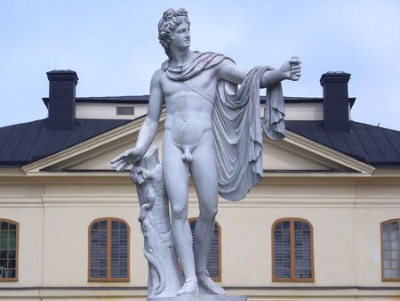 historical reflections: Statue of Apollo