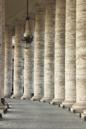column arch: Vatican archway Stock Photo