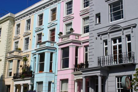 Notting Hill houses Stock Photo - 7364305