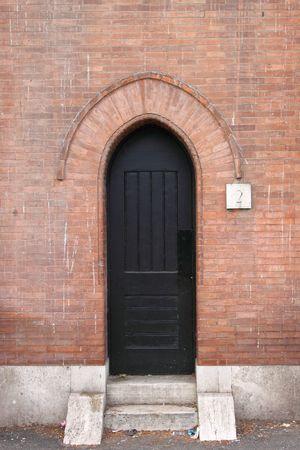 Medieval entrance door photo