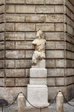 Pasquino statue in Rome (Italy) photo