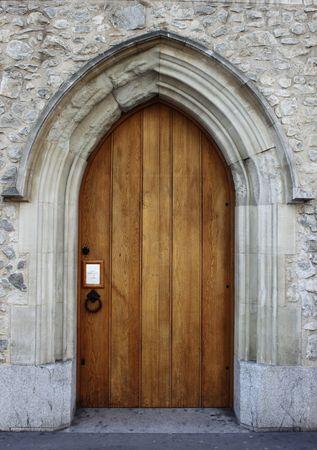 Medieval front door photo
