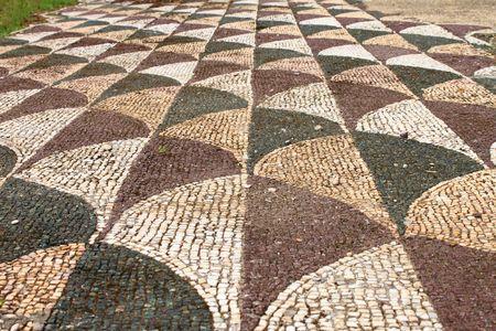 Ancient roman mosaic photo