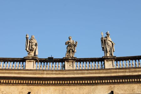 Statues in Saint Peter Basilica, Rome (Italy) photo