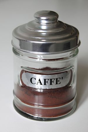 Glass coffe jar photo
