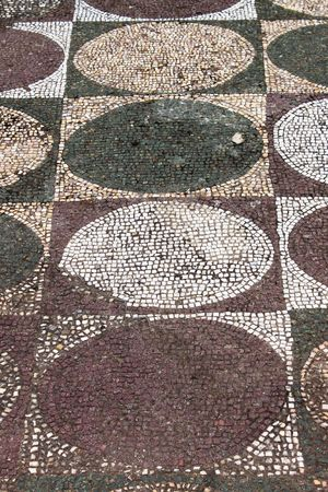 Ancient mosaic pattern in Caracalla baths photo