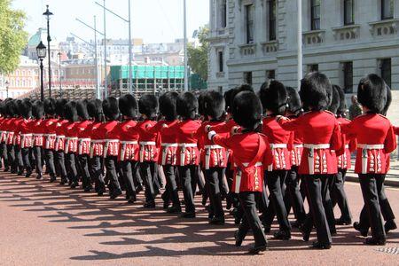 London, UK, May 21, 2010 - Royal Parade toward Buckingham Palace