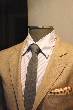 Elegant men suit on a mannequin