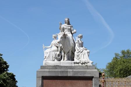 Allegory sculpture of Europe at Albert Memorial, London