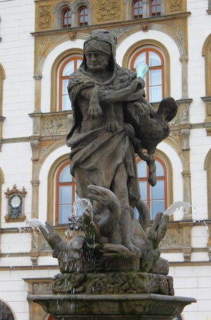 olomouc: Hercules Fountain in Olomouc, Czech Republic