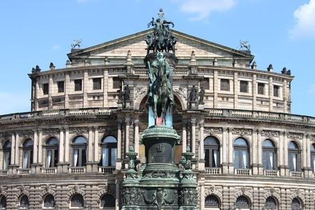 Dresden, Germany - July 16, 2011: The Opera Theater called Semperoper Editorial