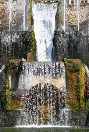building monumental: Rome - September 24, 2011: Villa Este fountain in Tivoli, Italy Editorial