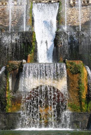 Rome - September 24, 2011: Villa Este fountain in Tivoli, Italy Editorial