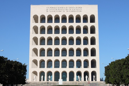 Rome - December 8, 2011: , Squared Colosseum in Rome, Italy