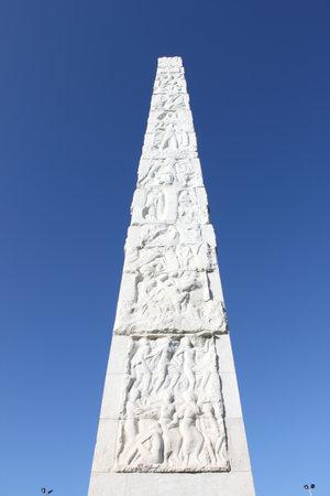 eur: Guglielmo Marconi obelisk in Rome, Italy
