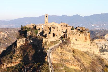 Civita di Bagnoregio, the dying city near Rome, Italy Editorial