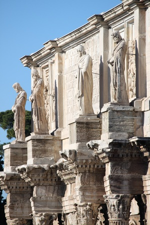 constantine: Details of Arch of Constantine in Rome, Italy