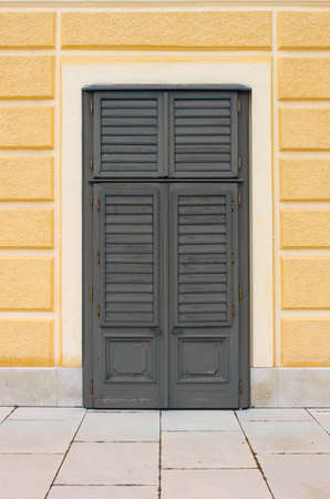 baffle: Italian style shutters on a renaissance palace