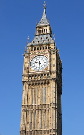 united kingdom: Big Ben clock tower in London, UK