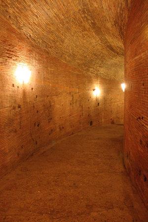 Segret corridor in the undergrounds of a castle Stock Photo - 11952176