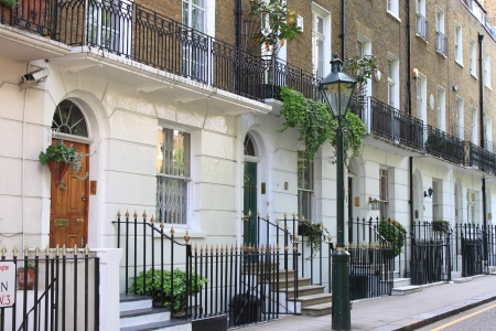 Typical georgian style townshouses in London, UK 에디토리얼