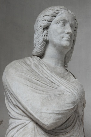 White roman bust of a senator