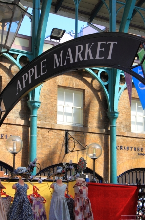 LONDON - MAY 23: Apple market insignia on May 23, 2010 in London. Apple market in Covent Garden is one of the main London attractions Stock Photo - 12060702