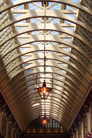 Architectural structure of a gallery glass roof Stock Photo - 12073824