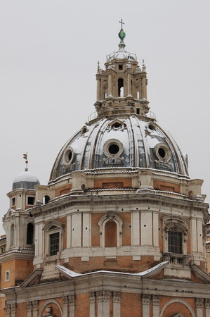 Beautiful urban scenic in Rome during wintertime photo
