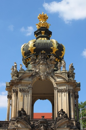 Kronentor of the Zwinger palace in Dresden, Germany