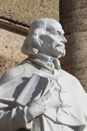 Statue of an intellectual in front of the Palace of Justice in Rome, Italy photo