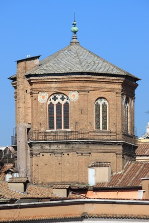 Octagonal dome of the medieval romanic church of Santo Spirito in Sassia  Rome, Italy photo