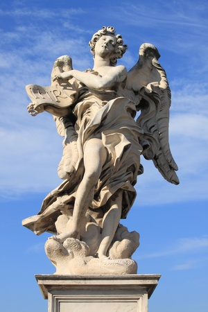Angel statue in Saint Angel bridge. Rome, Italy Stock Photo - 12816621