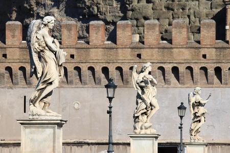 Saint Angel bridge in Rome, Italy photo