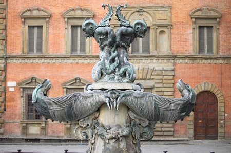 Fountain of the marine monsters in Florence, Italy Stock Photo - 12944470