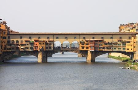 Ponte Vecchio in Florence, Italy Standard-Bild