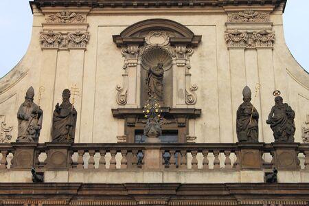 salvator: Facade of Saint Salvator church in Prague, Czech Republic