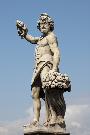 Statue of Bacchus in Florence, Italy photo