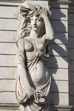Marble statue portraing a pregnant woman. Symbol of maternity Stock Photo - 13056983