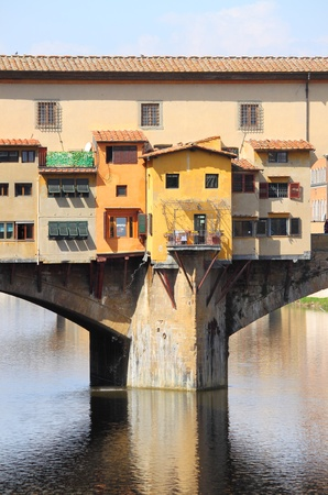Detail of Ponte Vecchio in Florence, Italy photo