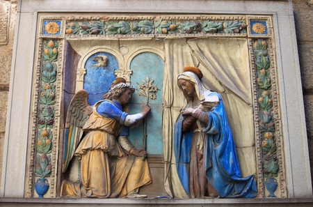 Annunciation - St. Gabriel announces the Virgin Mary the God plan for her to be the mother of His Son, Jesus photo
